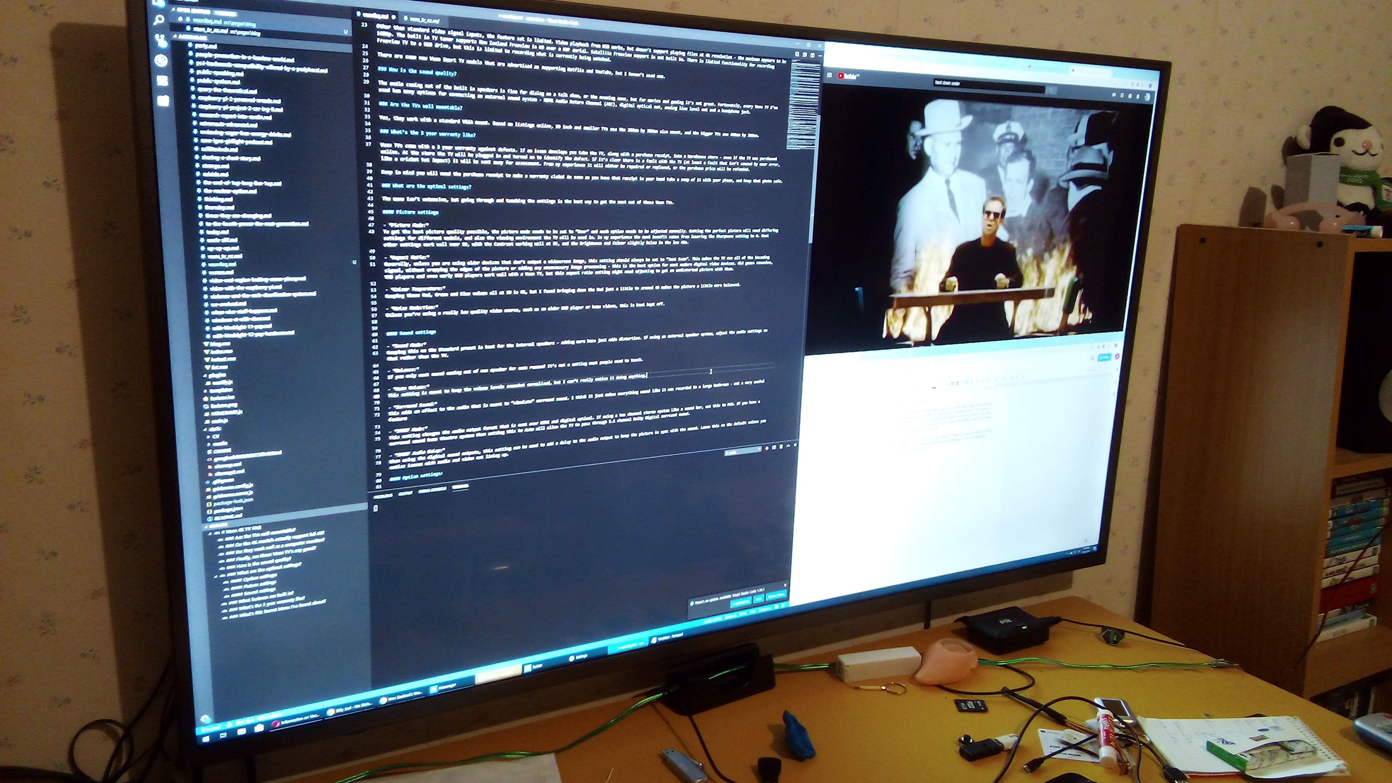 Veon 4K TV as a desktop monitor.